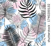 seamless pattern tropical plant.... | Shutterstock .eps vector #1740200132