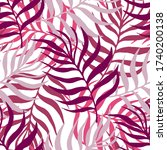 seamless pattern tropical plant.... | Shutterstock .eps vector #1740200138