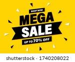 mega sale banner  special offer ... | Shutterstock .eps vector #1740208022