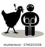 alektorophobia. fear of... | Shutterstock .eps vector #1740221528
