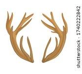 elk horn vector icon.cartoon... | Shutterstock .eps vector #1740222842