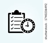 long term goals vector solid...   Shutterstock .eps vector #1740236492