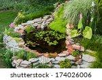 Beautiful Pond In A Backyard...
