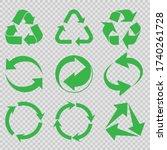 recycling vector character set. ... | Shutterstock .eps vector #1740261728