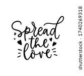 spread the love lettering card... | Shutterstock .eps vector #1740269318