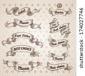 vintage ribbon banners  hand... | Shutterstock .eps vector #174027746