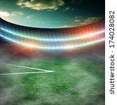 soccer green field  | Shutterstock . vector #174028082