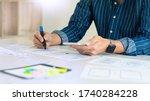ux designer creative planning...