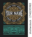 vintage label for liquor design   Shutterstock .eps vector #1740295985