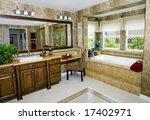 elegant upscale bathroom with... | Shutterstock . vector #17402971