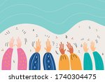 human hands  applause  clapping ... | Shutterstock .eps vector #1740304475