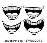 mouth design over white...   Shutterstock .eps vector #174032096