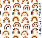 set of baby rainbows in white... | Shutterstock .eps vector #1740335432