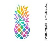 Colorful Rainbow Pineapple  ...