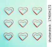 heart clip and vintage envelopes   Shutterstock . vector #174034172