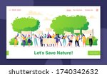 landing page concept on of... | Shutterstock .eps vector #1740342632