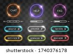 neon buttons for web shop.... | Shutterstock .eps vector #1740376178