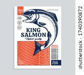 vector raw king salmon package... | Shutterstock .eps vector #1740390872
