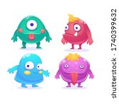 cute cartoon monsters...