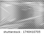 transparent stretch plastic... | Shutterstock .eps vector #1740410705