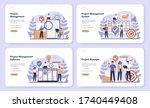 project management web banner... | Shutterstock .eps vector #1740449408