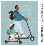 happy father's day  funny... | Shutterstock .eps vector #1740457922