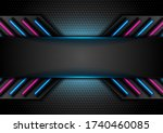 futuristic perforated... | Shutterstock .eps vector #1740460085