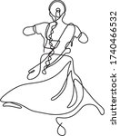 Clasic Indian Dancer Dancing...