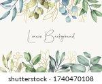 elegant leaves background....   Shutterstock .eps vector #1740470108