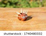 Funny Hedgehog Shape Character...