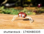 Funny Spider Shape Character Or ...