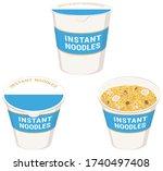 instant ramen noodles. vector... | Shutterstock .eps vector #1740497408