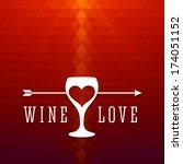 wine menu design template  ... | Shutterstock .eps vector #174051152