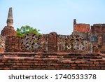 ancient city Ayutthaya histprical park in Thailand
