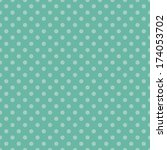 Seamless Aqua Dot Pattern