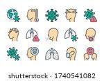 covid19  coronavirus and virus... | Shutterstock .eps vector #1740541082
