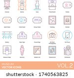 museum icons including canvas ...   Shutterstock .eps vector #1740563825