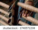 A Handloom Weaver Preparing...