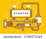 vector industrial illustration...   Shutterstock .eps vector #1740571265