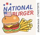 national burger day in 28 may ... | Shutterstock .eps vector #1740575975