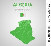 detailed map of algeria with...   Shutterstock .eps vector #1740631412