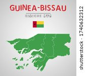 detailed map of guinea bissau...   Shutterstock .eps vector #1740632312