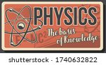 physics retro poster with atom... | Shutterstock .eps vector #1740632822