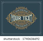 vintage logo or banner layout... | Shutterstock .eps vector #1740636692