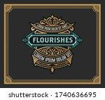 vintage logo or banner layout... | Shutterstock .eps vector #1740636695