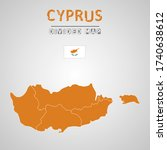 detailed map of cyprus with...   Shutterstock .eps vector #1740638612