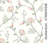 floral seamless pattern of... | Shutterstock .eps vector #1740649238