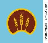 ears of wheat vector logo.... | Shutterstock .eps vector #1740657485
