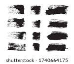 brush cards. gray textured... | Shutterstock .eps vector #1740664175