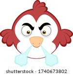 vector illustration of an angry ...   Shutterstock .eps vector #1740673802